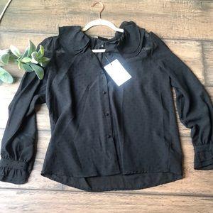 Black polka dot NWT blouse 🖤